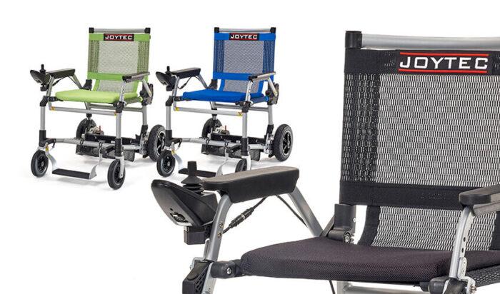 A cadeira elétrica Joytec está disponível em três cores