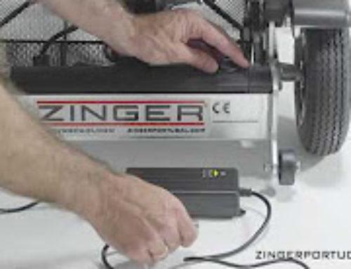 Como colocar a bateria e o carregador  cadeira de rodas eléctrica Zinger