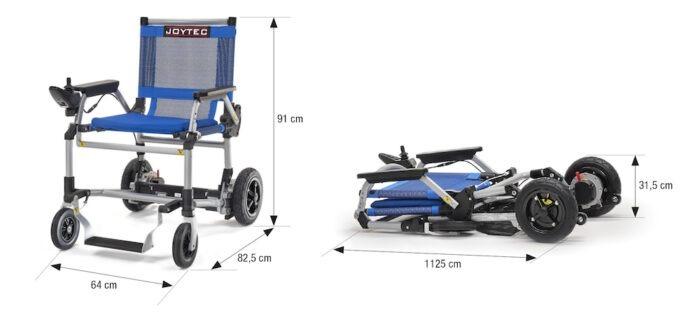 Dimensiones cadeira de rodas elétrica Joytec