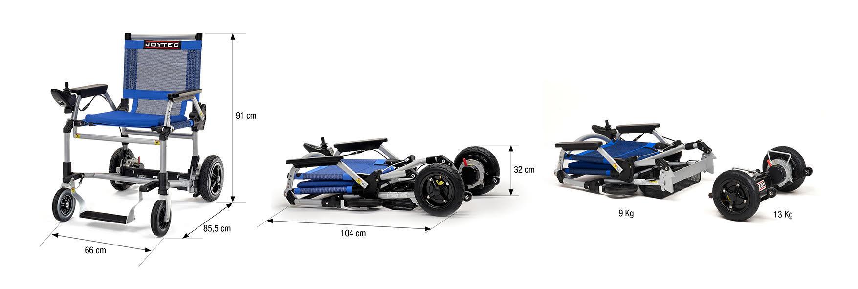 Joytec Pro, a cadeira de rodas elétrica dobrável
